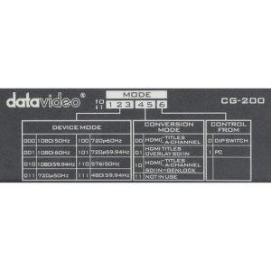 Datavideo TC-200 & CG-200 HD/SD Character Generator Kit
