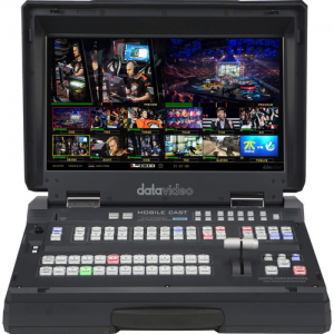 Datavideo 12-Input HD-SDI & HDMI Mobile Streaming Studio with 17.3″ LCD Monitor