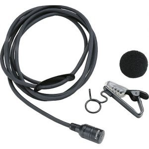 Sony ECM-44BMP Omnidirectional Lavalier Microphone with 3.5mm Locking Mini Jack for Sony Transmitters