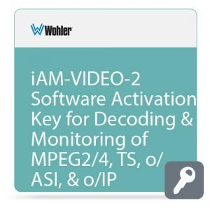 Wohler OPT-MPEG – iAM-VIDEO-2 Software Activation Key for Decoding & Monitoring of MPEG2/4, TS, o/ASI, & o/IP