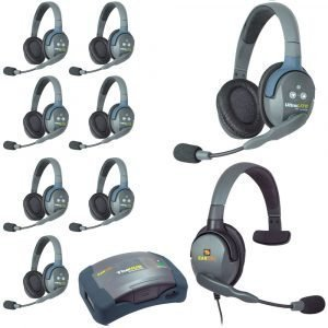 Eartec HUB9DMXS UltraLITE 9-Person HUB Intercom System with Max 4G Single Headset