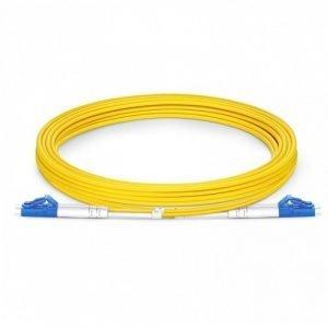FS 3m (10ft) LC UPC to LC UPC Duplex OS2 Single Mode PVC (OFNR) 2.0mm Fiber Optic Patch Cable