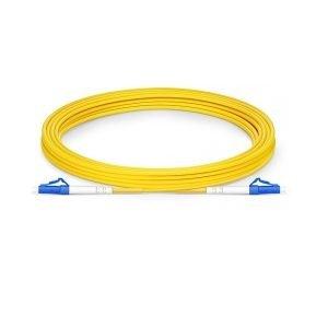 FS 130m (426.5ft) LC UPC to LC UPC Simplex OS2 Single Mode PVC (OFNR) 2.0mm Fiber Optic Patch Cable
