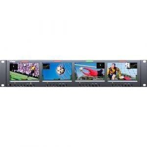 Wohler RM-2443WS-3G Quad 4.3″ LCD Rack Mount 3G-SDI Monitor