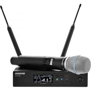 Shure QLXD24/B87A Digital Wireless Handheld Microphone System with Beta 87A Capsule (H50: 534 to 598 MHz)