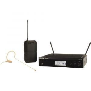 Shure BLX14R/MX53 Rackmount Wireless Omni Earset Microphone System