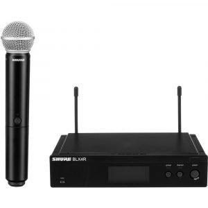 Shure BLX24R/SM58 Rackmount Wireless Handheld Microphone System with SM58 Capsule